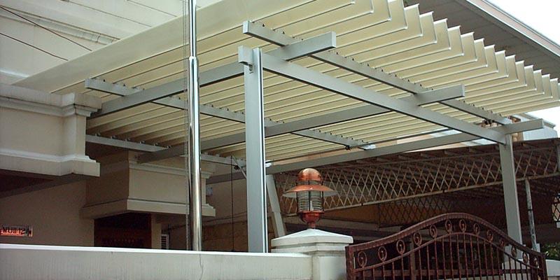 Desain Kanopi Rumah Yang Indah Kanopi Aluminium Atap Buka Tutup Sunlouvre Surabaya